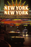 "A Neon Sign That Reads ""New York  New York"" at the Hotel and Casino in Las Vegas  Nevada"