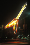 "A Neon Sign That Reads ""Hard Rock Cafe"""