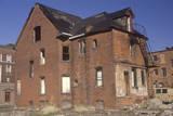 Abandoned Brick House  Detroit  Michigan