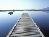 Fishing Dock on Klamath Lake  Rocky Point  Oregon