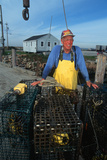 Smiling Fisherman with Lobster Traps  Sakonnet  Rhode Island