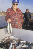 Fisherman with Catch of Mackerel  Neil's Harbor  Cape Breton  Nova Scotia  Canada