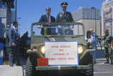 Military Officials in Jeep  United States Army Parade  Chicago  Illinois