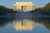 The Lincoln Memorial and Reflecting Pond at Sunrise in Washington DC