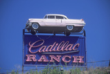 "A Sign That Reads ""Cadillac Ranch"""