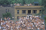 View of Full Bleachers  Full of Fans During a Professional Baseball Game  Wrigley Field  Illinois
