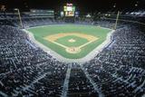 Overview of Diamond and Full Bleachers During a Night Baseball Game  Turner Field  Atlanta  Georgia