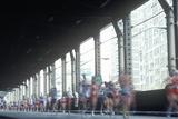 Runners Crossing 1st Avenue/59th Street Bridge  Ny City  Ny Marathon