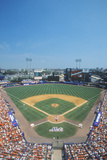 Long View of Diamond and Bleachers During Professional Baseball Game  Shea Stadium  NY
