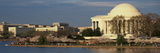 Panoramic View of Jefferson Memorial and Cherry Blossoms in Spring  Washington DC