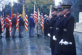 Soldiers at Veteran's Day Ceremony  Arlington National Cemetery  Washington  DC