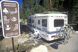 A Recreation Vehicle Dumps its Sewage in Sequoia National Park  California