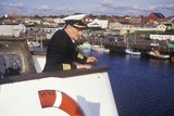 The Captain of the Bluenose Atop the Ferry to Guide it into the Dock  Yarmouth  Nova Scotia