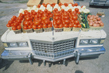 Vegetable Stand on a Cadillac