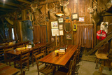 Interior of Rustic Old Restaurant with Hunting Décor