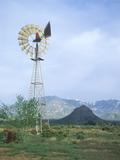 Windmill on Ranch Near Roundtable Mountain  Ut