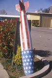 A Torpedo Painted Like American Flag  United States