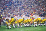 View of College Football Game  Rose Bowl  Los Angeles  CA