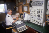 The Communications Officer on the Ferry Bluenose Working in the Communications Room  Maine