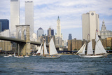 The Class B Tall Ships Sailing from Wall Street  Manhattan to the Brooklyn Bridge  New York