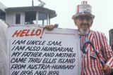 Hungarian/American Man Dressed as Uncle Sam  Ellis Island  New York City
