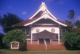 Shrine and Cottage at Buddhist Cemetery in Maui Hawaii