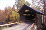 The Goldbrook Covered Bridge in Stowe  Vermont During the Winter
