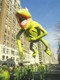 Kermit the Frog Balloon in Macy's Thanksgiving Day Parade  New York City  New York