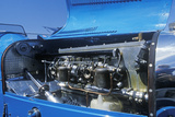 An Engine of a Blue Bugatti at the 35th Annual Concours D' Elegance Competition in CArmel  CA