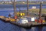 Dredging the Harbor in Nova Scotia
