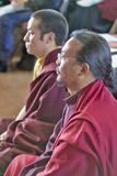 Tibetan Monks Seated for Amitabha Empowerment Buddhist Ceremony at Meditation Mount in Ojai  CA