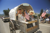 Covered Wagon in July 4th Parade  Lima  Montana