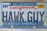 "California License Plate Reads ""Hawk Guy"""