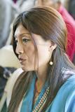 Tibetan Woman in Traditional Dress Attends Amitabha Empowerment at Meditation Mount in Ojai  CA