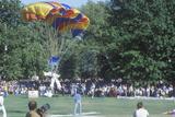 Parachutist Landing in St Louis  Missouri Park