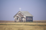 Abandoned Prairie Church in Wyoming