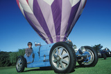 A Blue Bugatti CAr at the 35th Annual Concours D' Elegance Competition in CArmel  CA