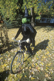 Halloween Witch on Bicycle  New York State