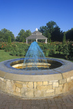 Fountain in Rose Garden with Gazebo  Boise  ID
