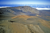 Aerial View of Mount Haleakala Volcano  Maui  Hawaii