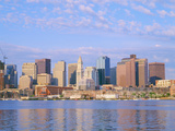 Boston Skyline and Harbor  Massachusetts