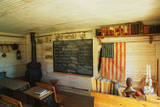 This Is the Interior of a One Room School House