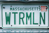 Vanity License Plate - Massachusetts