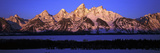 Sunrise on Grand Tetons  Grand Teton National Park  Wyoming