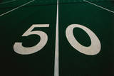 This Is the 50 Yard Line of a Football Field
