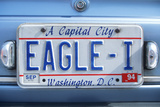 Vanity License Plate - Washington  DC