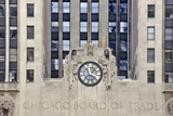 Clock on the Chicago Board of Trade Building  Chicago  Illinois