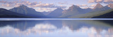 This Is Lake Mcdonald the Surrounding Mountains are Reflected in the Lake