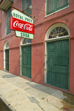 Old Pharmacy with Coke Sign in French Quarter of New Orleans  Louisiana