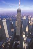 The Chicago Skyline at Sunrise  Chicago  Illinois